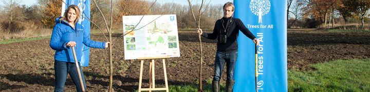 Zwitserleven plant 2.000 bomen in Noord-Brabant.